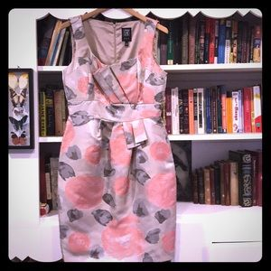 Pink and Gray Architectural Dress